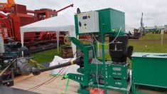 Granulator for pellet production powered by PTO or stationary engine, as shown in the video, Canada Londyn agricultural machinery exhibition Bonsai, Stationary, Engineering, Canada, Technology, String Garden