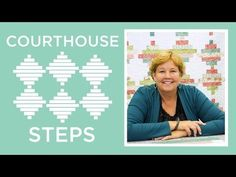 MSQC Tutorial - Courthouse Steps Quilt   uses 1 Jellyroll of print, 1 Jellyroll of solid (Jenny used Welcome Home)