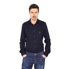 Versace 19.69 Abbigliamento Sportivo Srl mens long sleeve shirt Paris Jersey Blu
