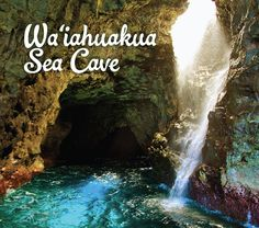 See the waterfalls inside sea caves found on the Na Pali Coast of Kauai Sea Cave, Cave Tours, Kauai, Caves, Rafting, Snorkeling, Waterfalls, Geography, Travel Photos
