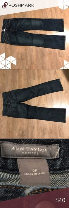 Ann Taylor Petite Jeans These jeans are in like new condition. Please note they are petite so probably ideal for someone 5'3 or shorter. Ann Taylor Jeans