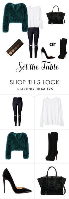 """""""Untitled #194"""" by nihada106 ❤ liked on Polyvore featuring Banana Republic, Christian Louboutin and Fendi"""