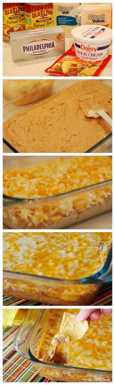 Warm Bean Dip.. had this at a superbowl party one time and it was to die for!