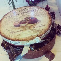 Chocolate Box decoupage...