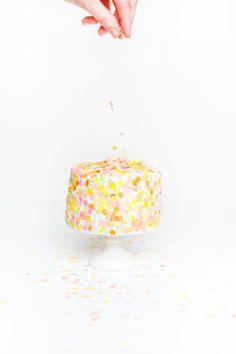 Confetti, Cake Decorations, Baking Cakes, Sugarandcloth Com, Cake ...