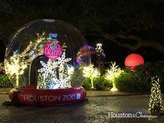 Zoo Lights Returns to Houston Zoo November 18 – January 14 Visit Houston, Houston Zoo, Zoo Lights, January 14, Real Estate Tips, Snow Globes, Christmas Ornaments, Holiday Decor, Christmas Jewelry