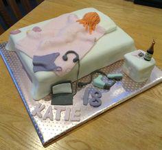 Sleepy teenager 18th Birthday cake