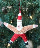 Beach Starfish Santa Claus with Red Shorts