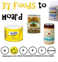 Survival Zombie Apocalypse: ~ 37 Foods to Hoard. Food Storage List: What to Stock in Your Prepper's Pantry. Survival Food List, Survival Items, Survival Prepping, Emergency Preparedness, Survival Skills, Survival Hacks, Survival Gear, Prepper Food, Emergency Kits