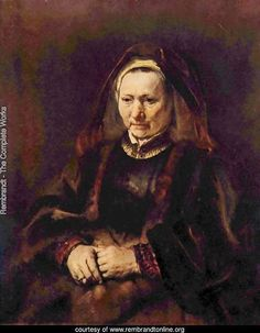 Portrait of a seated old woman / Rembrandt
