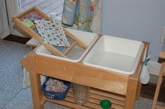Discover the Child: Images from a Montessori Toddler House - Practical Life setups
