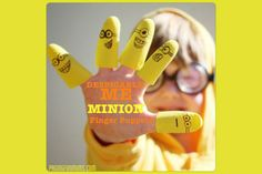 Despicable Me 'Minion' Finger Puppets - what a fun bath activity. Everyone needs a Minion or two in their lives! Despicable Me Party, Minion Party, Fun Crafts, Crafts For Kids, Minion S, Minion Craft, Purple Minions, Minion Banana, Glove Puppets