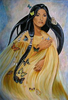Cherokee Butterfly Woman ~ Linda Rous