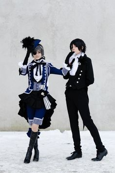 Black Butler Ciel and Sebastian cosplay