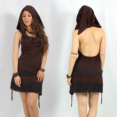 """Exception """"Rijeya"""" dress. Fairy pixie dress, with lace and open back."""