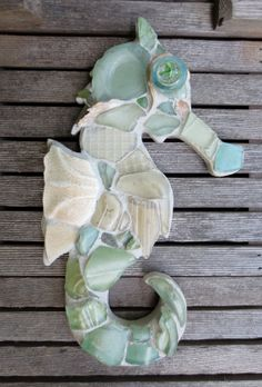 Sea Glass Seahorse by maysprout on Etsy