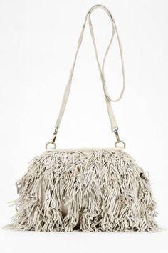 Nala Russo Leather Fringe Crossbody Bag, $98;