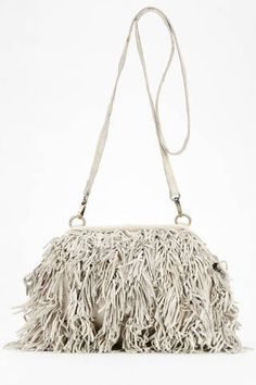 Nala Russo Leather Fringe Crossbody Bag, $98;