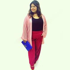 @nadiakamira is looking cool with our kimono outer and Olivia flare pants