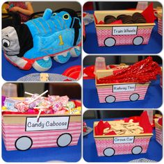 Thomas the Train birthday party snack train