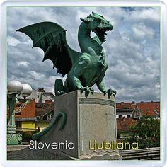 $3.29 - Acrylic Fridge Magnet: Slovenia. Dragon Bridge. Ljubljana