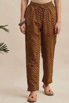 Designer Wear: Shop Designer Ethnic Wear by Farida Gupta Silk Kurti Designs, Salwar Neck Designs, Kurta Designs Women, Kurti Designs Party Wear, Pants For Women, Clothes For Women, Ladies Pants, Women Trousers, Salwar Pattern