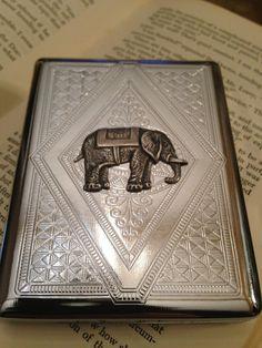 Business Card Case Elephant Cigarette Case by urbanindustries, $37.00