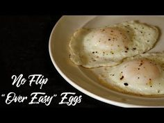 """There is nothing worse than getting the perfect egg into the skillet only to have it swan dive when you flip it for an over easy egg. The term """"over easy"""" can seem like a joke if you c… Easy Egg Breakfast, Egg Recipes For Breakfast, Breakfast Items, Breakfast Dishes, Breakfast Nook, Brunch Recipes, Yummy Recipes, Keto Recipes, Recipes"""