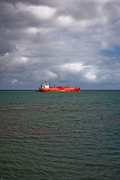 Hilo Bay Tanker --Seemed like this ship is lit from inside, Hawaii
