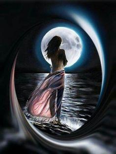 Abstract Tree Painting, Lily Painting, Beautiful Fantasy Art, Beautiful Moon, Moon Photography, Beautiful Nature Wallpaper, Sad Art, Fantasy Paintings, Angel Art
