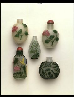Antique Chinese glass snuffbottles