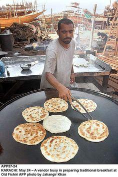 Pakistan. love those big griddles.