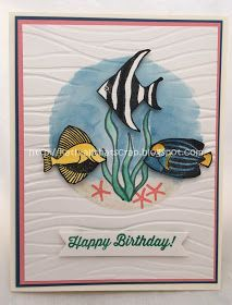 Stampin' Up! Seaside Shore, All That Scrap: WWC72 - Jean's Color Challenge