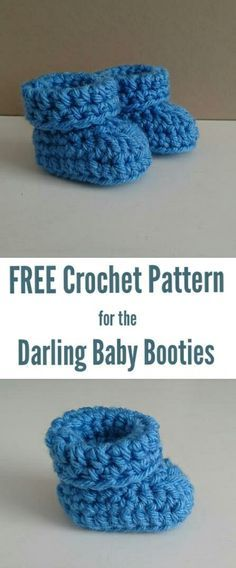 FREE crochet pattern for the darling baby booties By thecrochetblog