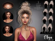 Hair Eliza/Tres Cic by Sintiklia-sims tres chic Los Sims 4 Mods, Sims 4 Game Mods, The Sims 4 Pc, Sims Four, Sims 4 Cc Eyes, Sims Cc, Sims 4 Mods Clothes, Sims 4 Clothing, Sims 4 Curly Hair