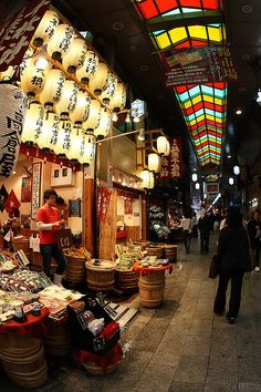 Stroll through Nishiki Market, Kyoto's kitchen, to break up the incredible temples and gardens.