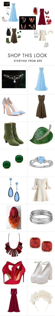 """The Elements- Air, Ice, Fire, And Earth."" by crazyfangirlofeverything ❤ liked on Polyvore featuring Gianvito Rossi, Aspesi, Étoile Isabel Marant, Kenneth Jay Lane, Kate Spade, Chicwish, Aqua, Schutz, Carolina Herrera and Lizzie Fortunato"