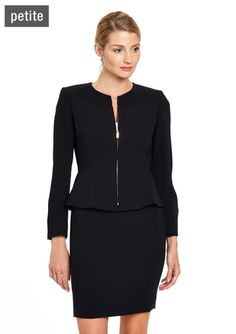 On ideeli: TAHARI ARTHUR S. LEVINE Petite Inverted Lapel Skirt Suit