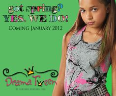 Spring into 2012 with our new Tween line.... Drama Tween by Vintage Couture Inc!  Available January 2012.  www.vintagecoutureinc.com