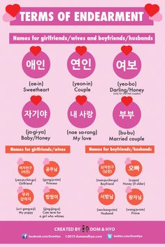 terms of endearment – Learn Basic Korean Vocabulary & Phrases with Dom & Hyo Language Study, Language Lessons, Learn A New Language, Learn Basic Korean, How To Speak Korean, Korean Words Learning, Korean Language Learning, Names For Boyfriend, Learn Hangul
