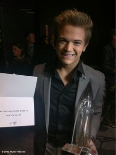 Hunter Hayes with his CMA