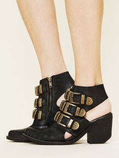 FREE PEOPLE TRIPOLI BUCKLE BOOT JEFFREY CAMPBELL SHOES BLACK SUEDE BOOTIE 7 $268 #JeffreyCampbell #Booties #Casual