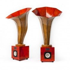Specimen Dark Orange Hornling Speakers #audio #music #chicago
