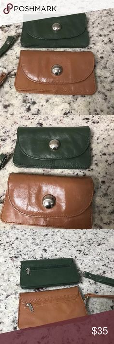 Lot of 2 Genuine Leather Wallets Gently used. Latico Bags Wallets