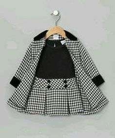 Another great find on Black Houndstooth Dress & Coat - Toddler & Girls by Sweet Heart Rose Little Girl Fashion, Toddler Fashion, Kids Fashion, Fashion Coat, Spring Fashion, Baby Outfits, Toddler Outfits, Children's Outfits, Junior Outfits