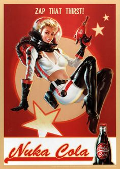 Fallout Nuka Cola sign by Trends International