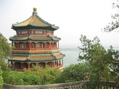 grounds of the Summer Palace in Beijing that was built by the Qing Dynasty