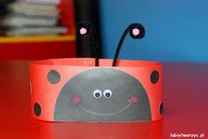 Biedronka - papierowa opaska na głowę w wersji DIY   #biedronka #biedroneczka #ladybug #ladybird #opaska #headband #paper #paperheadband #diy #zróbtosam #handmade #przedszkole #preschool #nurseryschool #kindergarten #craft #crafts #papercraft #papercrafts #lubietworzyc #blog