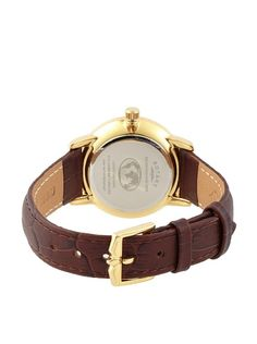 Rotary Women's LS42827/08 Brown/Champagne Textured Leather Watch
