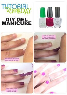 Super easy tutorial that shows you how to do a gel manicure at home!